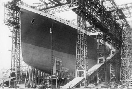 корпус Титаника полностью в сборе