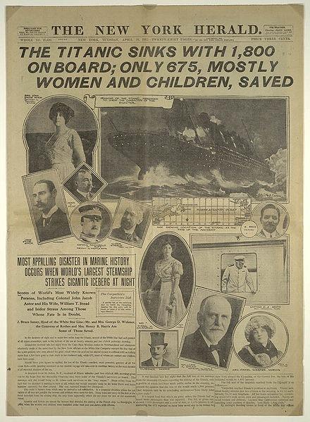 газеты о Титанике