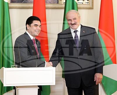 Лукашенко с Бердымухамедовым