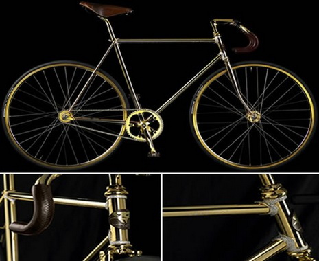 gold-bicycle