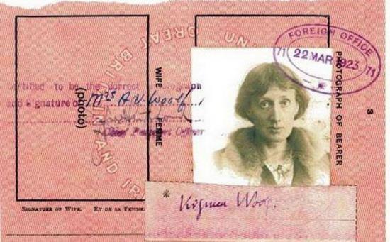 Паспорт Вирджинии Вульф