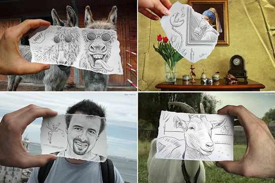 Ben Heine_рисунки