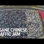Мегапробка в Китае (видео)