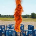 Самодельный огненный смерч в замедленной съёмке