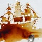 Потрясающие картины из пролитого кофе (фото)