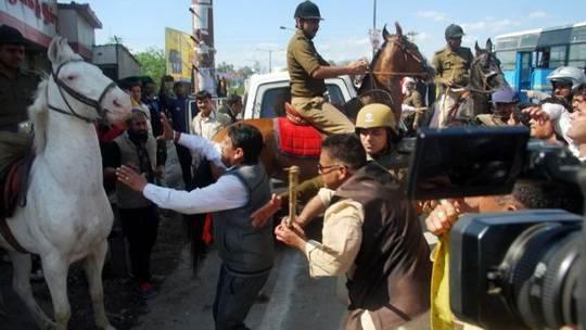 Индия,_политик_лошадь