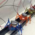 Шесть роботов-муравьев перемещают двухтонный автомобиль