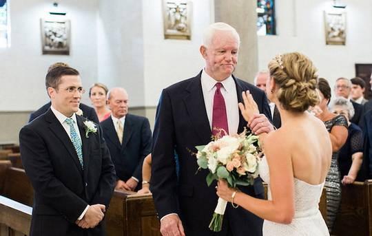 Церемония бракосочетания — это всегда трогательный момент.