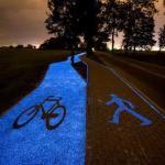 Люминесцентные велосипедные дорожки в Польше