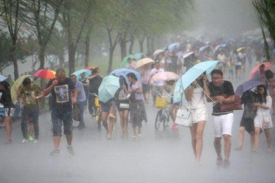 В понедельник власти Китая объявили «жёлтый уровень» штормового предупреждения в связи с приближением к острову Хайнань тайфуна «Сарика»