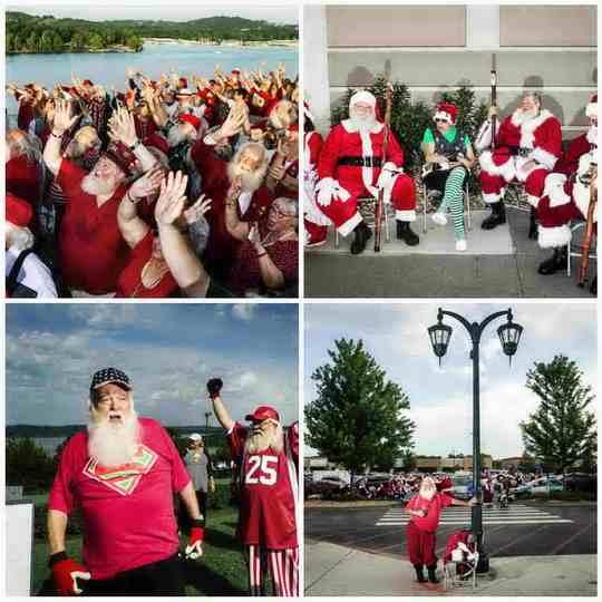 В американском городе Брансон, штат Миссури, ежегодной проходит крупнейший в мире слет Санта-Клаусов.