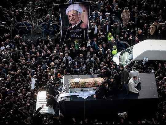 10 января, состоялись похороны бывшего президента Ирана Хашеми Рафсанджани
