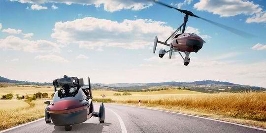PAL-V Libertу, который стоит полмиллиона евро, оснащается двумя моторами и способен пролететь до 500 км без дозаправки