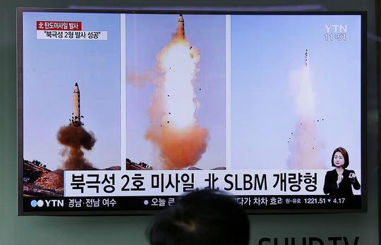 КНДР в понедельник осуществила новый ракетный запуск в сторону Японского моря.