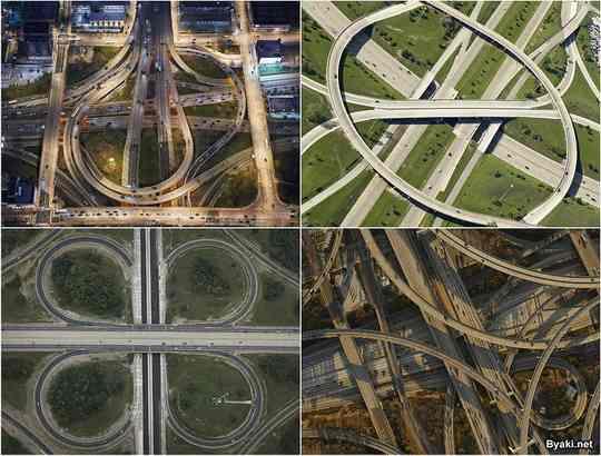 Питер Эндрю любит путешествовать, находить и снимать сложные по устройству развязки автомобильных дорог.
