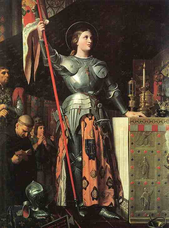 Орлеанская дева была не только политическим врагом, она слышала голоса Святых, о ней говорили древние пророчества. Ее обвиняли в колдовстве, но сожгли за ересь.