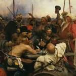 Почему один из казаков на картине «Запорожцы» сидит без рубашки?