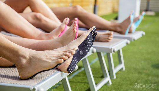 тартап Nakefit собирает деньги на запуск производства необычной пляжной обуви.