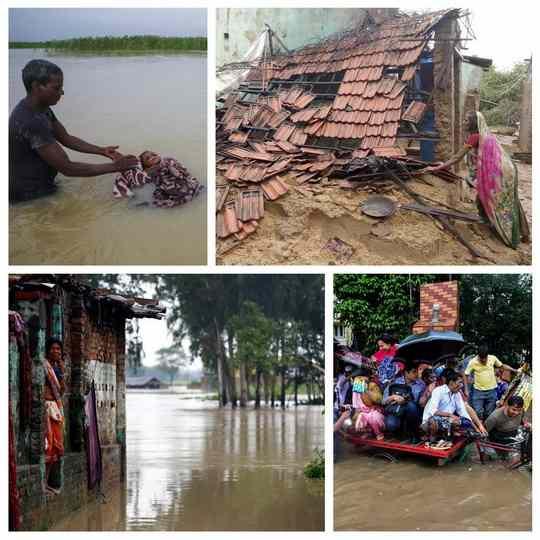 Проливные дожди, которые начались в середине августа, стали причиной паводков и оползней в Индии, Бангладеш и Непале.