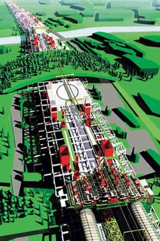 В 1970-е советская урбанистика отошла от концепции «линейного города». Более передовой системой виделся «Биотронград».