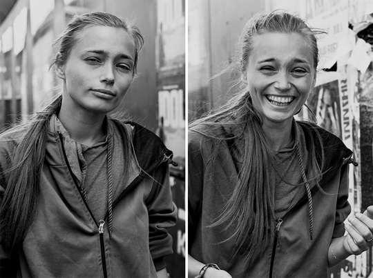 Фотограф назвала свой фотопроект «Поцелуй незнакомца», при помощи которого она хочет сообщить, как легко мы можем знакомиться с новыми людьми.