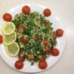 Салат Табуле с помидорами черри