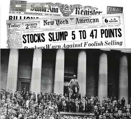 Октября 1929 года, 24-е число, навсегда войдёт в историю США как «чёрный четверг».