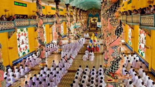 Последователи религии Каодай, распространённой во Вьетнаме, поклоняются одноимённому божеству