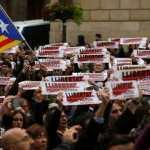 Общенациональная забастовка в Каталонии (фото)