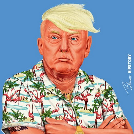 Дональд Трамп. Автор: Amit Shimoni.