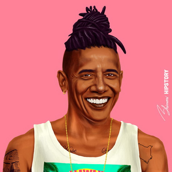 Барак Обама. Автор: Amit Shimoni.