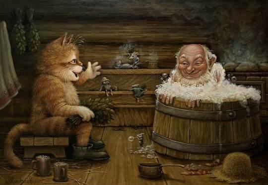 Это потрясающе милая и смешная серия историй о приключениях домового и его верного спутника - кота.