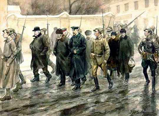 К столетию Октябрьской революции 1917 представляем рисунки советского живописца Ивана Алексеевича Владимирова.