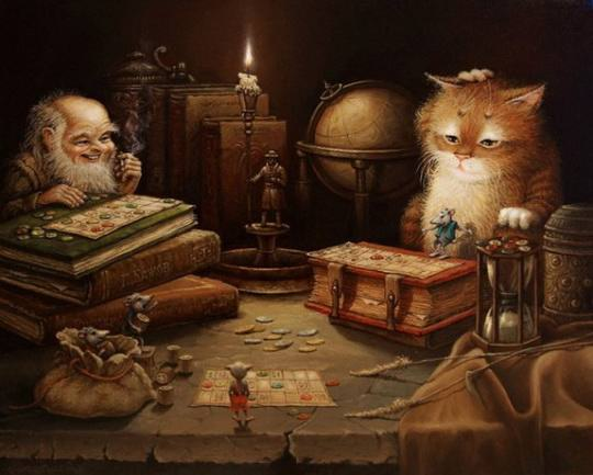 Это потрясающе милая и смешная серия историй о приключениях домового и его верного спутника — кота.