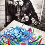 Где и когда критиков впечатлили картины авангардиста, которые нарисовал шимпанзе?