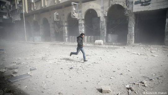 На Восточную Гуту под Дамаском совершено авианападение.