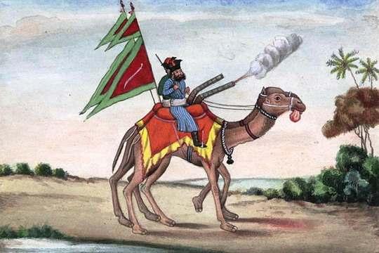Арабы ещё с древности использовали боевых верблюдов, на которых умещались лучник и погонщик с длинным копьём.
