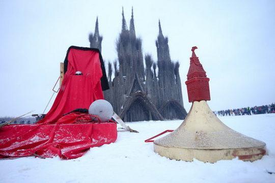 Празднование Масленицы в арт-парке в Никола-Ленивце получило название «Пламенеющая готика»
