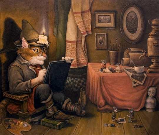 Это потрясающе милая и смешная серия историй о приключениях домового и его верного спутника — кота