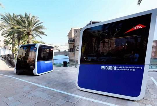 Управление по дорогам и транспорту Дубая (RTA) продемонстрировало в действии автономные пассажирские капсулы, произведённые итальянской компанией Next Future Transportation.