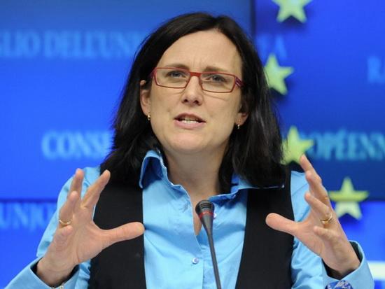 Еврокомиссар по вопросам торговли Сесилия Мальмстрём в четверг, 21 июня, подчеркнула готовность Евросоюза к решению торгового конфликта.