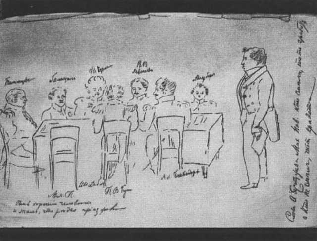 (Заседание Следственной комиссии по делу декабристов)