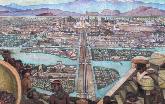 Столица ацтеков, город Теночтитлан. Источник: tagweb.ru