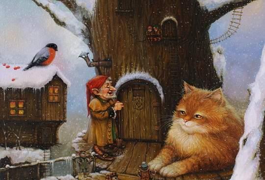 Это потрясающе милая и смешная серия историй о приключениях домового и его верного спутника — кота. Часть 23