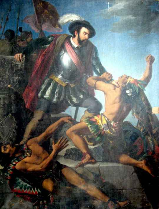 В ночь с 30 июня на 1 июля 1520 года конкистадоры, окруженные ацтеками в Теночтитлане, попытались выбраться из западни.