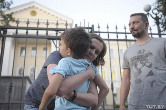 Анна Калтыгина с семьей.