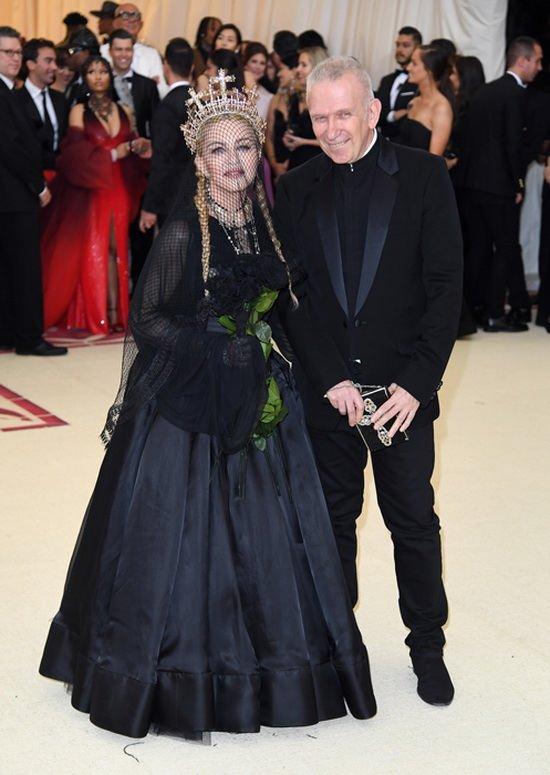 Мадонна и Жан-Поль Готье на Met Gala, 2018 год