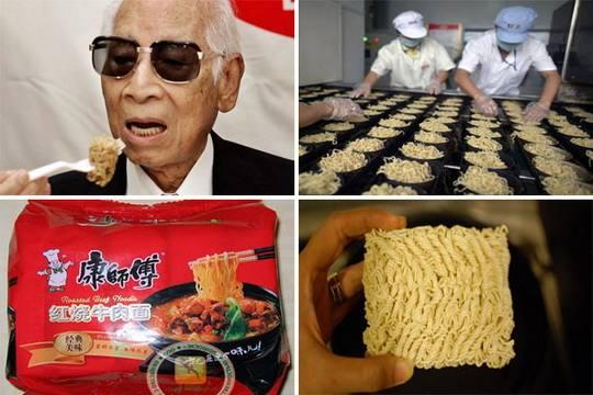 Жители Японии торжественно отметили 60-летие изобретения лапши быстрого приготовления.