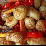 Овощи в духовке, запеченные слоями
