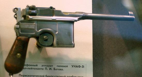«Маузер» П. И. Батова в экспозиции ЦМВС, Москва. Источник фото: foto. qip.ru